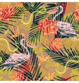 Seamless exotic pattern with abstract palm leaves vector image vector image