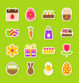 happy easter spring stickers vector image