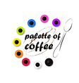 palette of coffee vector image