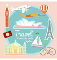 Travel and tourism around the world vector image