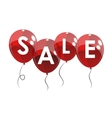 Color Glossy Balloons Sale Concept of Discount vector image