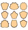 brown heraldic frames - set vector image