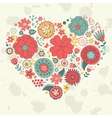 Elegant card with floral heart vector image
