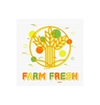 Farm Fresh Concept Farm Fresh Background Farm vector image