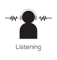 Listening Icon vector image