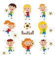 little girls and boys in vector image