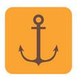 nautical anchor icon vector image