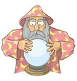 wizard ball pink vector image