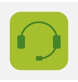 headset with microphone vector image