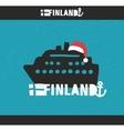 Creative Finnish label vector image