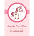 Party card with unicorn vector image