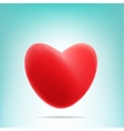 red mesh heart vector image vector image