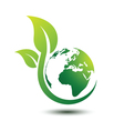 Green earth 2 vector image