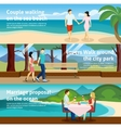 People Fall In Love Banner Set vector image