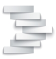 Blank paper stripe banners arrow on white vector image