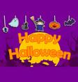 cute happy halloween background vector image