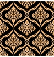 Damask floral pattern with brown colours vector image