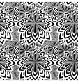 Floral psychedelic seamless pattern vector image