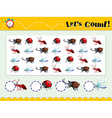 Game template with counting insects vector image