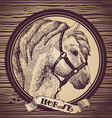 Horse head sketch a symbol of 2014 vector image