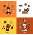 Restaurant Design Concept vector image