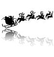 Santa Claus drives in a sleigh vector image