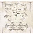 set of elegant curls and swirls Elements vector image