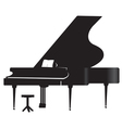 Silhouette of a grand piano 1 vector image