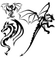 Tattoo Dragons vector image