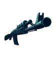 The Automatic Weapon vector image