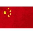 True proportions China flag with texture vector image