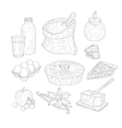 Pie Baking Ingredients Isolated Hand Drawn vector image