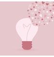Love bulb vector image vector image