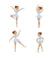 Set of cute little ballerinas vector image vector image