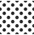 Devious smiley pattern simple style vector image