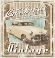 old car vintage crack vector image