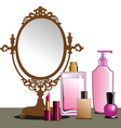 makeup and mirror vector image vector image