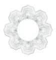 Guilloche element for design certificate vector image