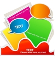 colorful bubble for speech website element vector image vector image