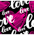 Calligraphy love seamless 4 vector image