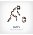 people sports bowling vector image