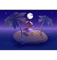 Summer rest Romantic night on tropical island vector image