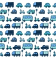 colorful hand drawn doodle cartoon cars seamless vector image