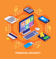 financial security vector image