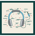headphones with cord poster image vector image