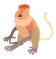 nasalis monkey icon cartoon style vector image