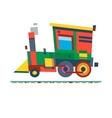 Railway train carriage vector image