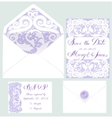 Set of wedding cards vector image