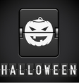 Scoreboard Halloween sign of the designer vector image vector image