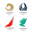 Isolated colorful flying birds logo set vector image